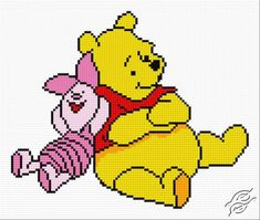 After-dinner Siesta--cute cross stitch pattern--not classic pooh but not uber-Disneyfied either