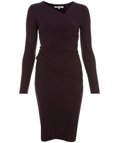 Jersey Twist Dress by Carven, £350, long sleeved and right on trend in burgundy