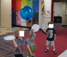 balloon tennis - couple paper plates + balloons = FUN!