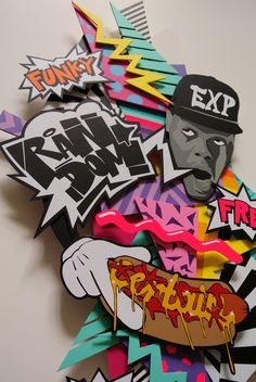 """Detail Shot of the handmade Sticker Illustration """"just a friend"""" by RandomEXP"""