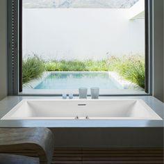 Andrea 18 as a Soaking Tub with a Slim Line Drain Steam Showers Bathroom, Shower Tub, Shower Tiles, Corner Tub, Malibu Homes, Bathtub Drain, Whirlpool Bathtub, Dream Bathrooms, Outdoor Bathrooms