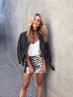 adorable sequined mini skirt---New Years is right around the corner!