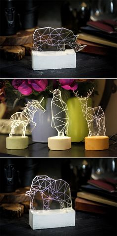 Geometric Animal Lights by Amit Sturlesi