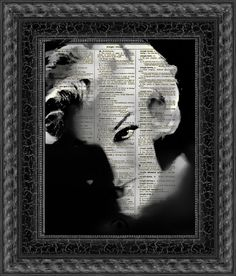 Marilyn Monroe Dark Marilyn Dictionary Art printed on 115+ year old dictionary page by reimaginationprints, $10.00