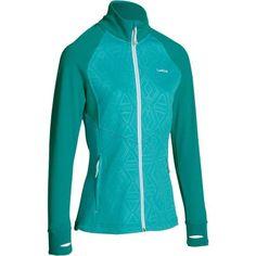 Chaqueta térmica de esquí lana mujer 500 gris rosa 5bd354522b65