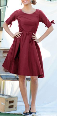 pretty marsala fit and flare dress http://rstyle.me/n/vs8w5r9te
