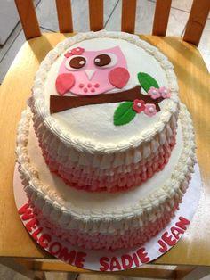 baby shower cake owl - Buscar con Google