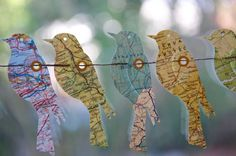 Ready to SHIP SALE Garland Paper Garland Birds of the by LaMiaCasa