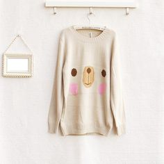Happy Bear Sweater❤Korean Japan/Korea kawaii vivi blouse hoodie panda coat S-M | eBay