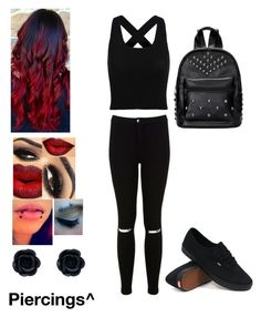 Welcome To The Black Parade by amazing-5sos on Polyvore featuring polyvore moda style Miss Selfridge Vans fashion clothing