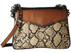 French Connection Lenny Crossbody Nude Lamb PU/Snake - 6pm.com