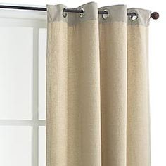 curtains ... they have a burlap look to them. *bedroom makeover*