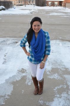 Express scarf and top, 7FAM skinnies, Corso Como boots