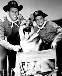 Rin-Tin-Tin....and ever since I have loved German Shepherds!