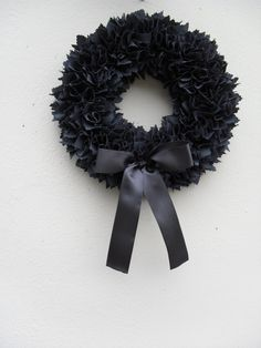 Fabric Wreaths Black Wreath By Smccathie 30 00 Christmas 2017