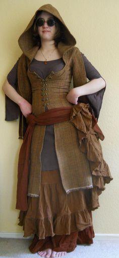 Hooded Multi Colored Ghawazee Coat -- love it!