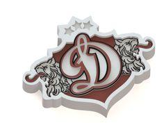 Dinamo Riga ice hockey team logo 3D model. #logo   #KHL   #icehockey   #3dmodel   #DinamoRiga