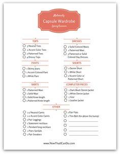 Spring/Summer Maternity Capsule Wardrobe Checklist