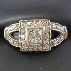 REDUCED2SELL Art Deco Vintage Princess Cut by KimsJewelryLove