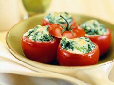Vegetarisch Gevulde tomaat met spinazie