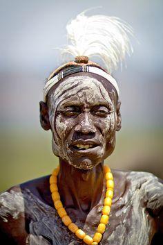 Karo Chief At Korcho - Ethiopia