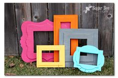you'll never guess what these fun funky frames are made out of!!!  (yes, it's a DIY!)