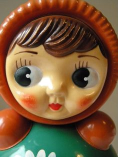 Vintage doll roly poly tilting bell nevalyashka russian doll