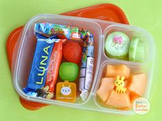 Quick and easy school lunch packed in @EasyLunchboxes containers