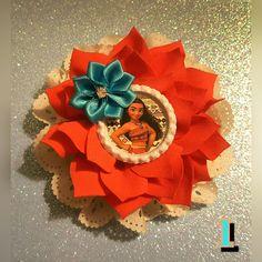 SALE 7 Styles Moana Princess Double Flower by ChannieBoutique Disney Hair Bows, Disney Ears, Diy Ribbon, Ribbon Crafts, Ariel Hair, Princess Moana, Disney Princess, Diy And Crafts, Crafts For Kids