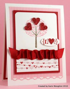 Love for Valentine's Day by Karin Menghini - Cards and Paper Crafts at Splitcoaststampers