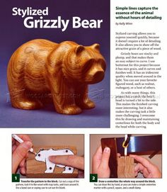 Romantic Animal Carving Wood Patterns Simple and Carving Bear - Wood Carving Patterns Simple Wood Carving, Wood Carving Faces, Wood Carving Designs, Wood Carving Tools, Wood Carving Patterns, Wood Patterns, Whittling Projects, Whittling Wood, Whittling Patterns
