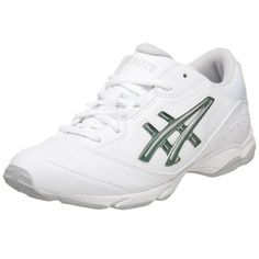 237f49503fa3 New Asics Junior White and Silver Cheer 5 Girls Cheerleader Shoes