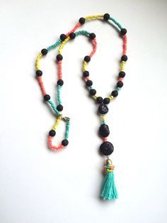 A personal favorite from my Etsy shop https://www.etsy.com/listing/227928172/long-tassel-necklace
