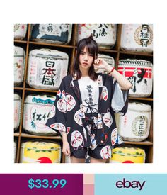 5541de42190 Asia   Pacific Islands Fox Face Mask Women Vintage Japanese Yukata Punk  Lolita Short Pants Summer  ebay  Fashion