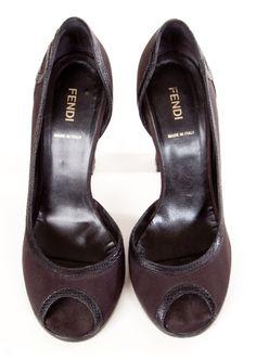 classic is gold! FENDI HEELS @Shop-Hers