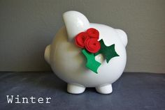 Oleander and Palm: Seasonal Piggy Bank