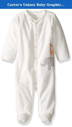 Carter's Unisex Baby Graphic Terry Footie (Baby) - Giraffe - Newborn. Carter's Graphic Terry Footie (Baby) - Giraffe Carter's is the leading brand of children's clothing gifts and accessories in America selling more than 10 products for every child born in the U.S. Their designs are based on a heritage of quality and innovation that has earned them the trust of generations of families. Features Snaps from ankle to chin. Nickel-free snaps on reinforced panel. Animal applique art.