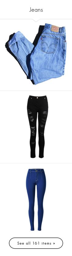 """Jeans"" by sweetimperfection ❤ liked on Polyvore featuring jeans, bottoms, pants, trousers, denim jeans, high waisted destroyed jeans, destroyed denim jeans, high-waisted jeans, high waisted distressed jeans and destructed jeans"