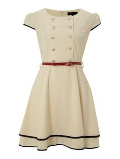 Omg!!!! Cutie Double breasted dress Cream - House of Fraser