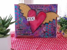 Collage Art, Art Ideas, My Etsy Shop, Artists, Heart, Check, Gift, Painting, Painting Art