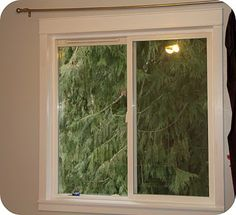 Tutorial on how to add wood trim to your windows.