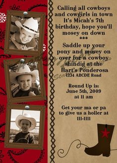 I like the sepia cowboy hat photos.  Might be fun to do on our dress like a cowboy day.