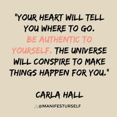 Thursday's Thoughts: Be authentic - Manifest Yourself