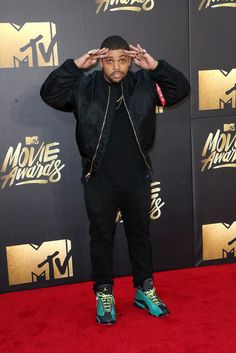 4/9/16 - O'Shea Jackson Jr. at the 2016 MTV Movie Awards in Burbank.