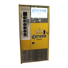 Beer for a quarter??? Hells yea! Fully functional Corona Vending Machine with original 1960s refrigeration system.
