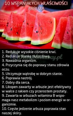 Pomysłodawcy.pl - serwis bardziej kreatywny - 10 WSPANIAŁYCH WŁAŚCIWOŚCI ARBUZA :)