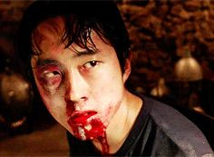 Discover & share this The Walking Dead GIF with everyone you know. GIPHY is how you search, share, discover, and create GIFs. Steven Yuen, Walking Dead Gif, Black And White Gif, Glenn Rhee, Season 3, Zombies, Gifs, Presents