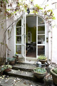 vine + #arch doorway