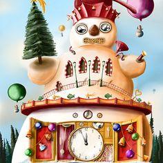 Sněhulák Fantasy, Christmas Ornaments, Holiday Decor, Home Decor, Decoration Home, Room Decor, Christmas Jewelry, Fantasy Books, Fantasia