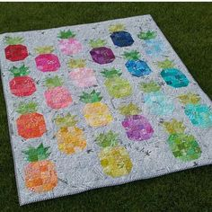2-757: Sunny-Side Up Retreat - Pineapple Punch Quilt - SG